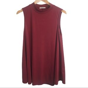 Acemi Burgundy Tunic Sleeveless Top Modal Blend